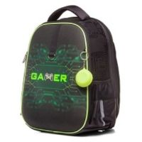 РЮКЗАК HATBER ERGONOMIC PLUS -GAMER- 38Х29Х16 СМ EVA МАТЕРИАЛ СВЕТООТРАЖ. 2 ОТДЕЛЕНИЯ 2 КАРМ 105629 (NRk_45035)